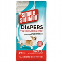 Simple Solution Disposable Dog Diapers - 12 Pack - Small