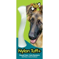 Fido Nylon Tuff+ Bone - Beef - Medium (16cm)