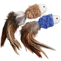 KONG Cat Naturals Crinkle Fish with Feathers