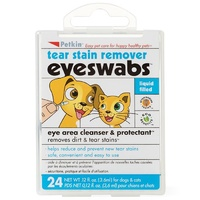 Petkin Pet Eye & Tear Swabs - 24 Pack
