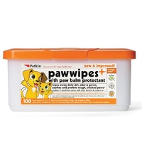 Petkin Pet Paw Wipes - 100 Pack
