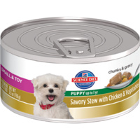 Hill's Science Diet Puppy Small & Toy Breed Savoury Stew Can Chicken & Veg - 156g