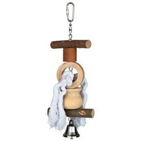 Natwood Hanging Bird Toy with Bell & Rope - 38CM