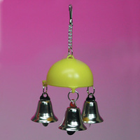 Half Ball with 3 Bells Bird Toy