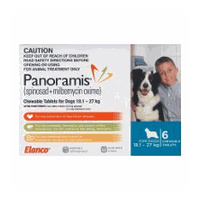 Panoramis for Dogs 18.1-27 kgs - 6 Pack - Blue