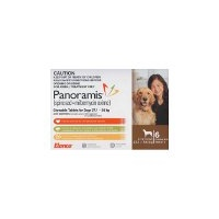 Panoramis for Dogs 27.1-54 kgs - 6 Pack - Brown - Flea & Heartworm Tablets
