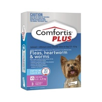 Comfortis PLUS Dogs 2.3-4.5 kgs - 3 Pack - Pink