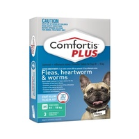 Comfortis PLUS for Dogs 9.1-18 kgs - 3 Pack - Green