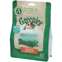 Greenies Freshmint Dog Treats - Petite - 340g (20 Pack)