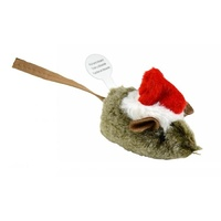 Play-N-Squeak Holiday Santa Cat Toy - Mouse