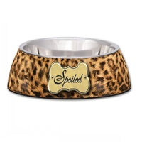 Milano Spoiled Leopard Print Dog Bowl - Small (235ml)