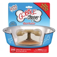 Gobble Stopper Slow Feeder for Dog Bowls - Small