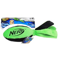 NERF Dog Retriever Football with Tail - Large (38cm) - Green