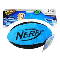 NERF Dog Retriever Plush Football - Large (17.8cm) - Blue