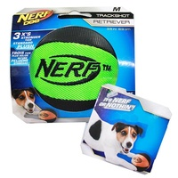 NERF Dog Trackshot Retriever Ball - Medium (8.9cm) - Green