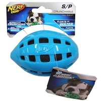 NERF Dog Crunchable Football - Small (10.2cm) - Blue