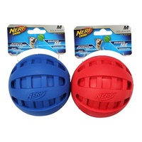 NERF Dog Squeaker Rubber Ball - Medium (10.2cm)