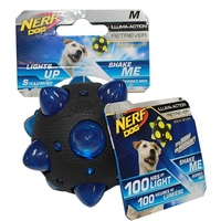 NERF Dog Illuma-Action Retriever LED Meteor Ball - Medium (8.1cm)