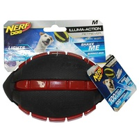 NERF Dog Illuma-Action Retriever LED Football - Medium (14cm)
