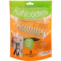 KaNoodles Premium Dental Chew & Treat - Large - 8 Pack (170g)