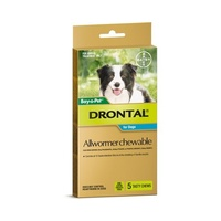 Drontal All Wormer Chewable Tablets for Dogs up to 10 kgs - 5 pack