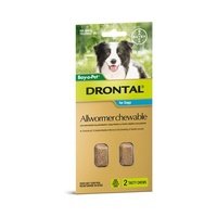 Drontal All Wormer Chewable Tablets for Dogs up to 35 kgs - 2 pack