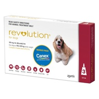 Revolution for Dogs 10.1-20 kgs - 3 Pack - Red