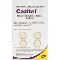 Cazitel Allwormer Tablets for Dogs up to 10 kgs - 4 Pack