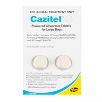 Cazitel Allwormer Tablets for Dogs up to 35 kgs - 2 Pack