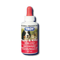 Puppy & Kitten Meat Flavoured Worm Syrup Troy - 50ml