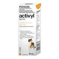 Activyl for Kittens and Cats up to 4 kg - 6 Pack - Orange