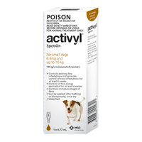 Activyl for Small Dogs 6.6-10 kgs - Single Dose - Brown