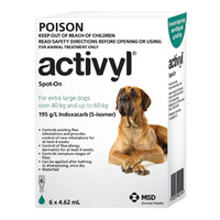 Activyl for X-Large Dogs 40-60 kgs - Single Dose - Green