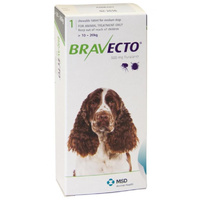 Bravecto for Medium Dogs 10-20 kg - Green - 1 Tablet (3 months)