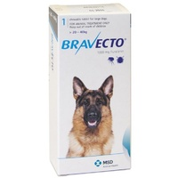 Bravecto for Large Dogs 20-40 kg - Blue - 1 Tablet (3 months)