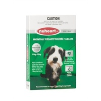 Nuheart for Medium Dogs 11-23 kgs - Green - 6 Pack
