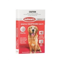 Nuheart for Large Dogs 23-45 kgs - Red - 6 Pack