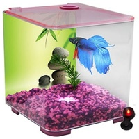 Aqua One BettaStyle Acrylic Tank with LED Light - 3L - Pink