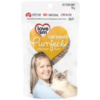 Love 'em Purrfect Cat Treats - Chicken Liver - 90g