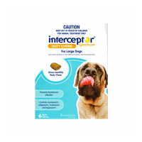 Interceptor Spectrum for Large Dogs 22-45 kgs - 3 Pack - Blue