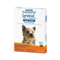 Sentinel Spectrum for Very Small Dogs up to 4 kgs - 3 Pack - Orange