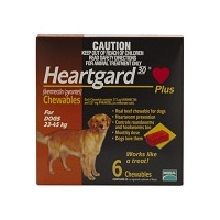 Heartgard Plus for Dogs 23-45 kgs - 6 Pack - Brown - Heartworm Control Treatment