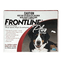 Frontline Plus for Extra Large Dogs 40-60 kgs - 3 Pack - Red - Flea & Tick Control