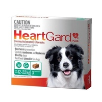 Heartgard Plus for Dogs 12-22 kgs - 3 Pack - Green - Heartworm Control Treatment