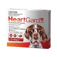 Heartgard Plus for Dogs 23-45 kgs - 3 Pack - Brown - Heartworm Control Treatment