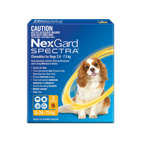 NexGard SPECTRA for Dogs 3.6-7.5 kg - 6 Pack - Yellow