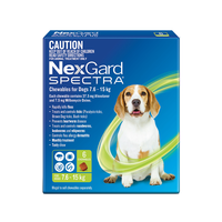 NexGard SPECTRA for Dogs 7.6-15kg - 6 Pack - Green