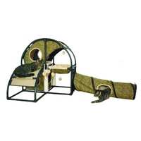 ZeeZ Feline Fun House with Tunnel - (81x81x81cm)
