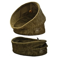 ZeeZ Pop Up Pet Cave with Cushion - Bark Brown - (47x47x69cm)