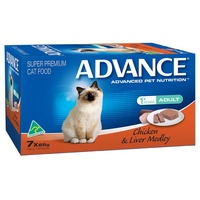 Advance Adult Cat Chicken and Liver Medley- Wet - (7 x 85g)